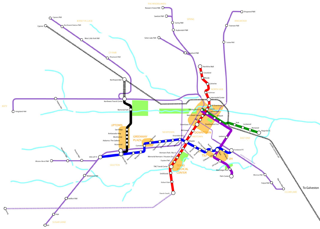 Light Rail Land Rush Special: The Houston Metro 2012 Map Is Set ...